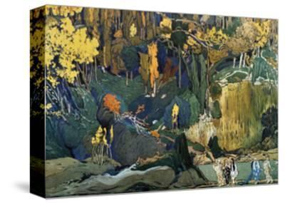 Décor for Debussy's Ballet L'Apres-Midi D'Un Faune (The Afternoon of a Fau), 1912