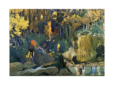 Décor for Debussy's Ballet L'Apres-Midi D'Un Faune (The Afternoon of a Fau), 1912