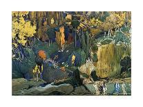 Décor for Debussy's Ballet L'Apres-Midi D'Un Faune (The Afternoon of a Fau), 1912-Leon Bakst-Giclee Print