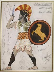 Design for Pollux's Costume in 'Hélène De Sparte' by Leon Bakst