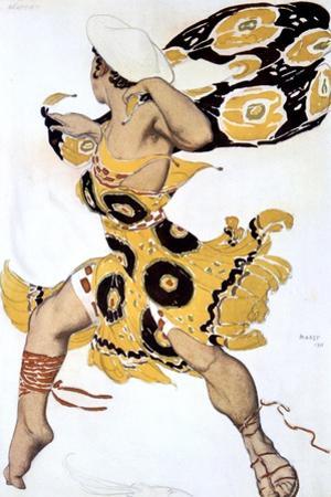 Ephebe, Costume Design for a Ballets Russes Production of Tcherepnin's Narcisse, 1911