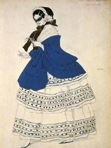 Estrella, Design for a Costume for the Ballet Carnival Composed by Robert Schumann, 1919 by Leon Bakst
