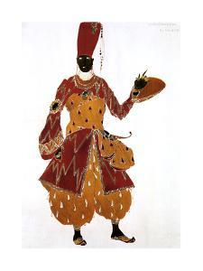 Eunuch Costume Design for the Ballet Scheherazade, 1910 by Leon Bakst