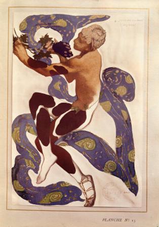 L'Apres Midi d'Un Faune, Costume Design for Nijinsky (1890-1950) by Leon Bakst
