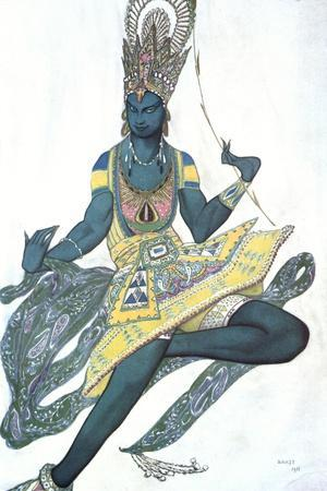 Le Dieu Bleu (The Blue God), Ballet Costume Design, 1911