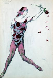 Le Spectre De La Rose, Design for Njinksky's Costume, 1911 by Leon Bakst