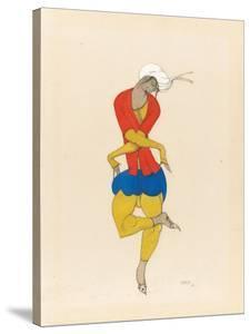 Maria Kuznetsova, Costume Design for 'L'Adoration', 1922 (Pencil and Gouache on Paper) by Leon Bakst