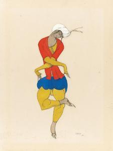Maria Kuznetsova, Costume Design for 'L'Adoration', 1922 (Pencil and Gouache on Paper) by Leon Bakst