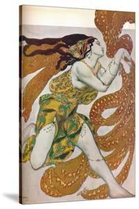 'Narcisse: A Bacchante. Costume design for the dance Narcisse', 1911 by Leon Bakst