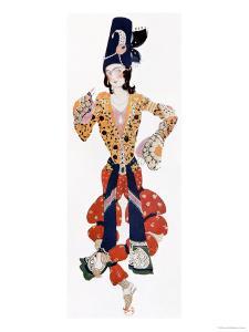 "Nijinsky's Costume in Ballet ""Scheherazade"" by Rimsky-Korsakov Choreographed by Michel Fokine 1910 by Leon Bakst"
