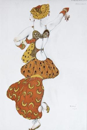 Odalisque, Costume Design for the Ballet Sheherazade by N. Rimsky-Korsakov, 1910
