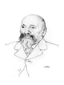 Portrait of Russian Composer Mily Balakirev, 1907 by Leon Bakst