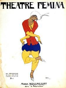 Poster for Igor Stravinsky's Ballet 'The Rite of Spring, 1911 by Leon Bakst