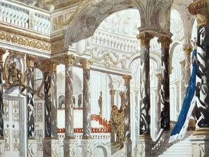 Scenery Design for the Baptism, from Sleeping Beauty, 1921 by Leon Bakst