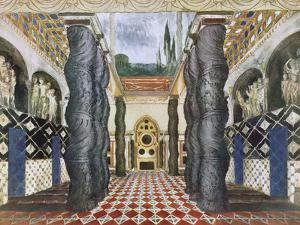 Scenery Design for the Imperial Palace, from The Martyr of St. Sebastian, c.1911-22 by Leon Bakst