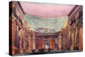 Set Design for a Ballets Russes Production of Cleopatra, 1909 by Leon Bakst