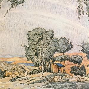 Set Design for Act I of Helen of Sparta, Performed by Ida Rubenstein's Ballet Troupe, 1912 by Leon Bakst