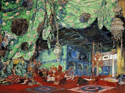 "Set Design for ""Scheherazade"" by Rimsky-Korsakov (1844-1908) 1916"
