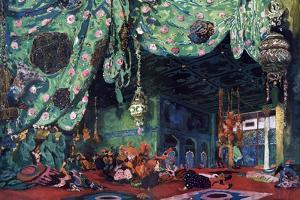 Set Design for the Ballet Scheherazade, C1913 by Leon Bakst