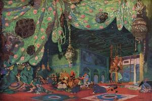 'Setting for Scheherazade', 1910 by Leon Bakst