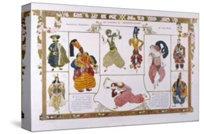 Sheherazade Elaborate Persian Style Costume Designs by Bakst