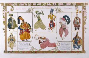 Sheherazade Elaborate Persian Style Costume Designs by Bakst by Leon Bakst