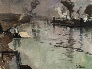 Smokestacks Along the River by Leon Bakst