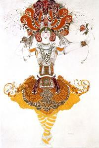 The Firebird, Costume Design for Tamara Karsavina in Stravinsky's Ballet the Firebird, 1910 by Leon Bakst