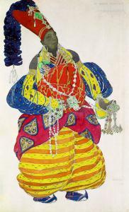 "The Great Eunuch, Costume Design for Diaghilev's Production of the Ballet ""Scheherazade,"" 1910 by Leon Bakst"
