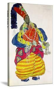 """The Great Eunuch, Costume Design for Diaghilev's Production of the Ballet """"Scheherazade,"""" 1910 by Leon Bakst"""