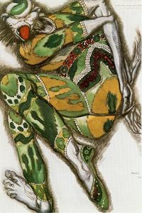 "The Green Monster, costume sketch for Nicolai Rimski-Korsakovs opera "" Sadko"",1917 Watercolour. by Leon Bakst"