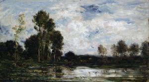 The Heron Pond, 1875 by Leon Bakst