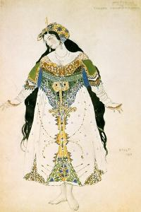 The Tsarevna, Costume Design for the Ballets Russes Production of Stravinsky's the Firebird, 1910 by Leon Bakst