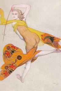 'Une Esclave Dansante', 1922, (1923) by Leon Bakst
