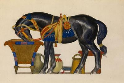 Watering Horse by Léon Bakst