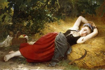 A Young Peasant Girl, Sleeping. 1874