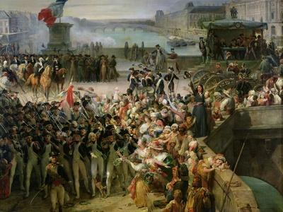 The Garde Nationale de Paris Leaves to Join the Army in September 1792