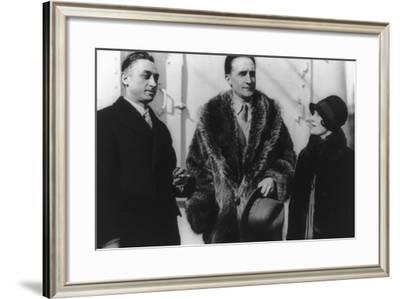 Leon Hartt, Marcel Duchamp, and Mrs. Hartt--Framed Photographic Print