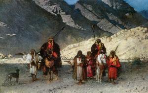 In the Mountains, 1870s by Leon Joseph Florentin Bonnat