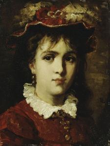 Portrait of a Young Girl, 1876 by Leon Joseph Florentin Bonnat