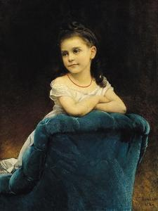 Portrait of Mademoiselle Franchetti, 1877 by Leon Joseph Florentin Bonnat