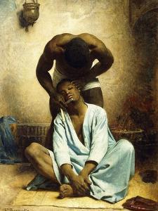 The Barber of Suez by Leon Joseph Florentin Bonnat