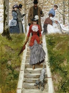The Promenade by Leon Joseph Voirin
