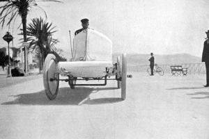 Leon Serpollet in His Gardner-Serpollet Steam Car, Nice, 1903
