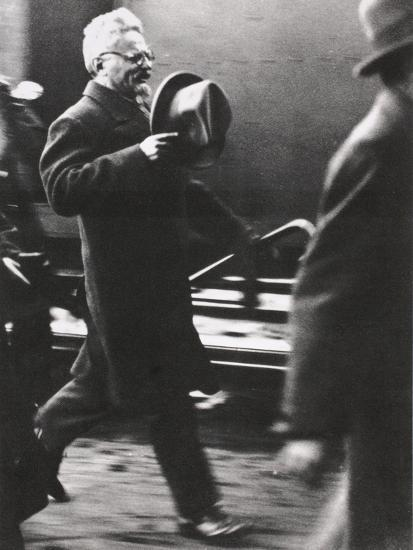 Leon Trotsky, exiled Russian Communist leader, arriving in Paris, c1933-Unknown-Photographic Print