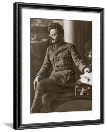 Leon Trotsky or Lev Davidovich Bronstein Russian Communist Leader in 1920--Framed Photographic Print