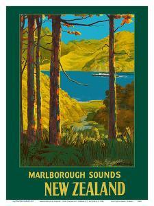 Marlborough Sounds - South Island, New Zealand by Leonard C. Mitchell