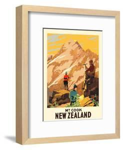 New Zealand - Mt. Cook (Aoraki) Mountain Climbers by Leonard C. Mitchell