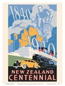 New Zealand Centennial 1840-1940 by Leonard Cornwall Mitchell