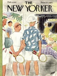 The New Yorker Cover - February 9, 1957 by Leonard Dove